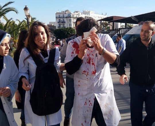 Crédit photo: DR | Une manifestation de médecins violemment réprimée à Alger