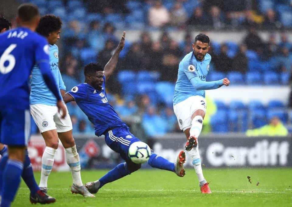Premier League : Mahrez double buteur face à Cardiff