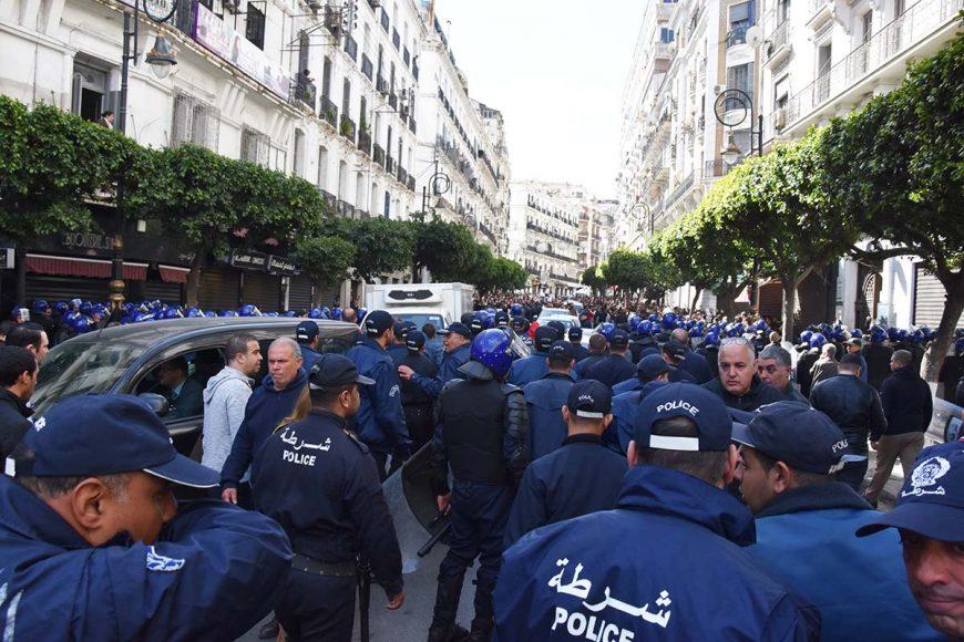 L'impressionnant dispositif sécuritaire déployé à les place Audin et la rue Didouche Mourad.