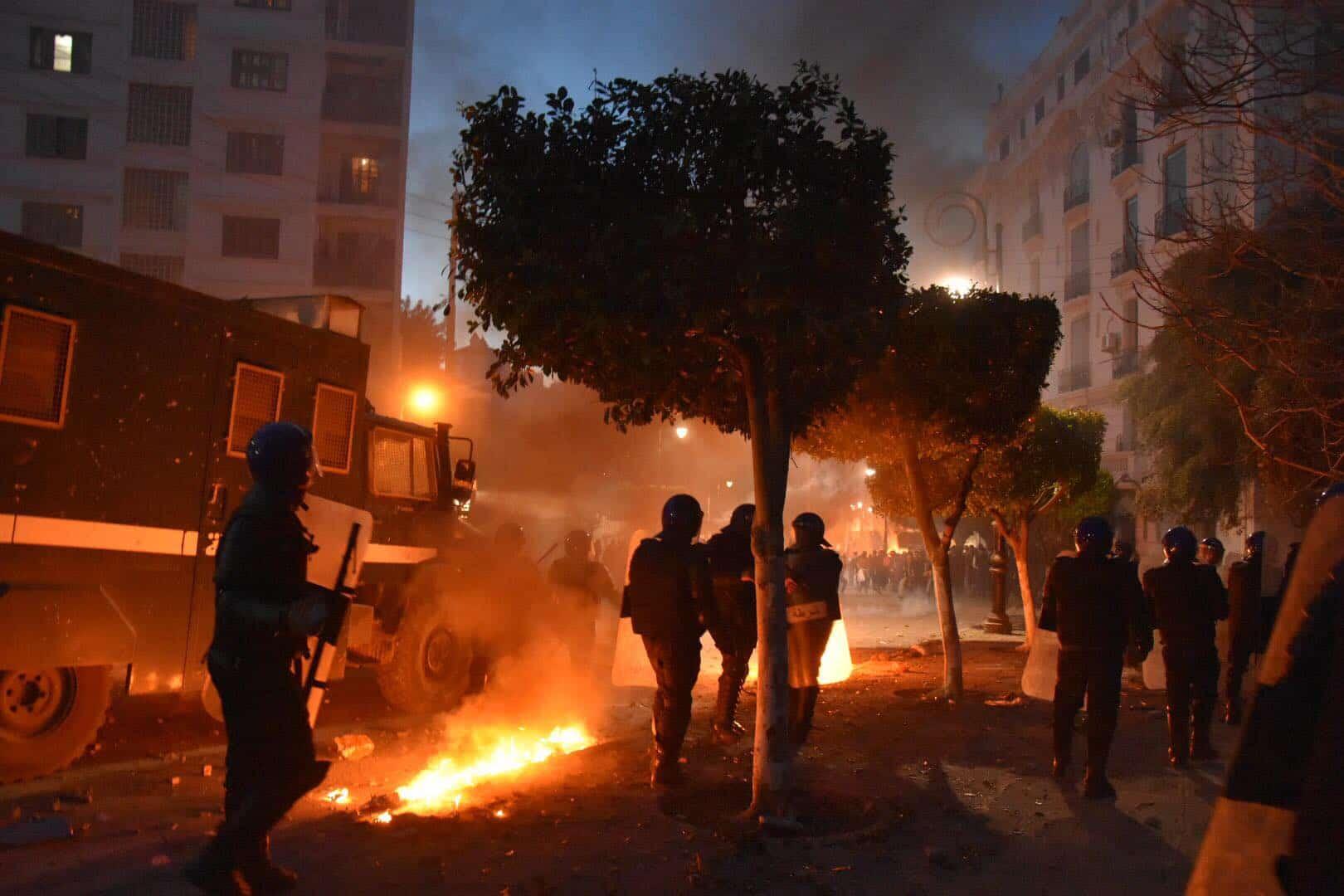 Violents heurts entre la police et les manifestants (Photo archives)