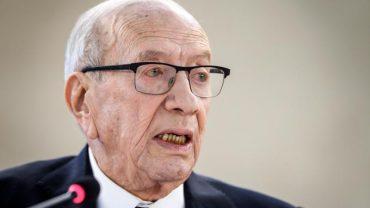 Le président tunisien Béji Caïd Essebsi, âgé de 92 ans