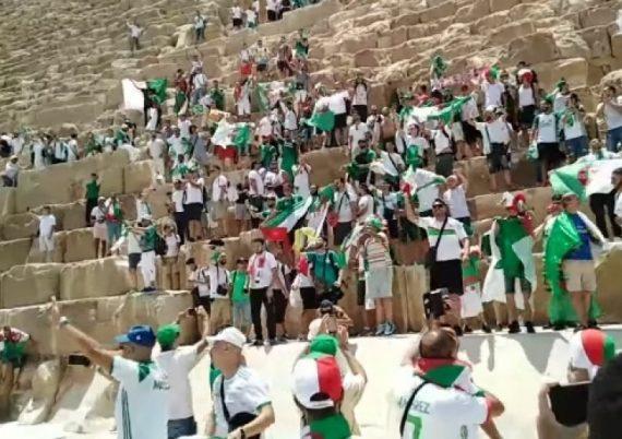 Supportes algériens en Egypte