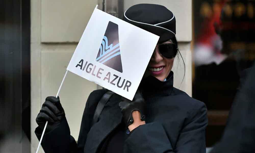 Des employés de la compagnie aérienne Aigle Azur avaient manifesté le 9 septembre 2019 devant le ministère des Transports à Paris