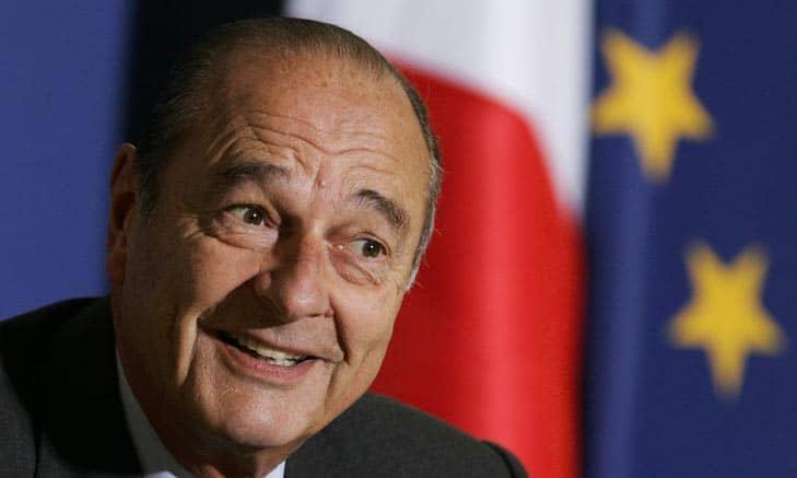 Le président Jacques Chirac le 22 février 2005