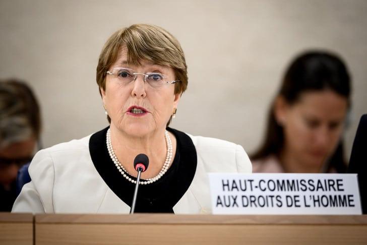 La Haut-Commissaire aux droits de l'Homme de l'ONU Michelle Bachelet, à Genève le 6 mars 2019