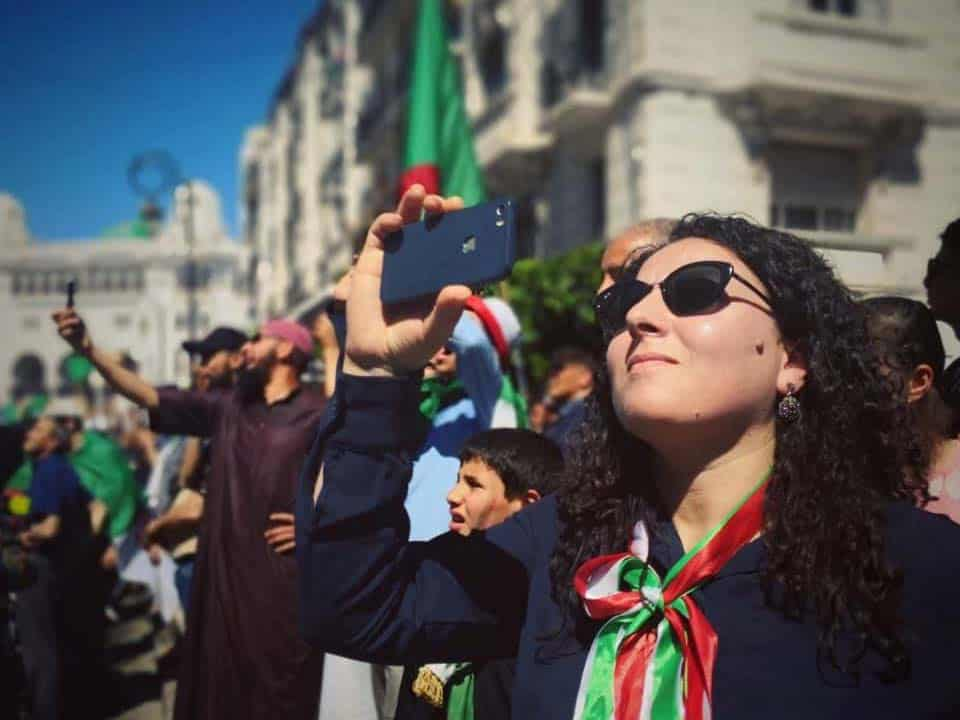 La militante et membre fondatrice de Jil Jadid, Meriem Saidani