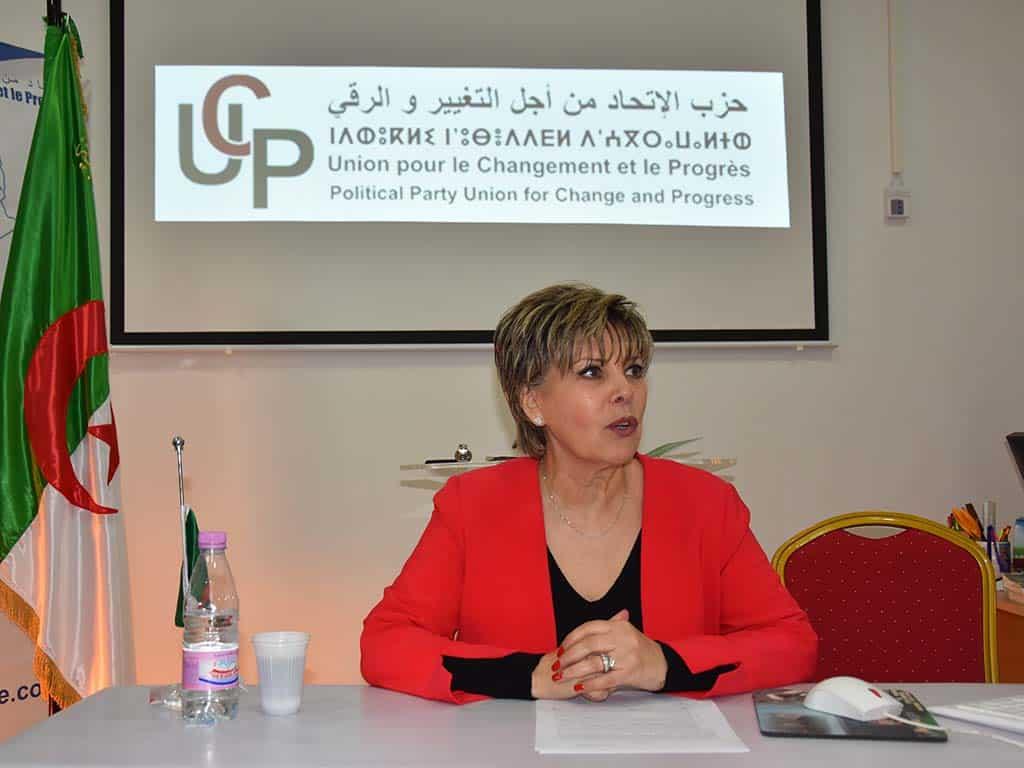 Zoubida Assoul, avocate et présidente du parti UCPZoubida Assoul