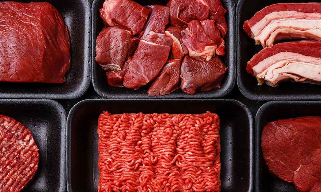 Différentes qualités de viande rouge