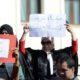 Rassemblement des magistrats à la cour suprême le 04 octobre 2019 à Alger