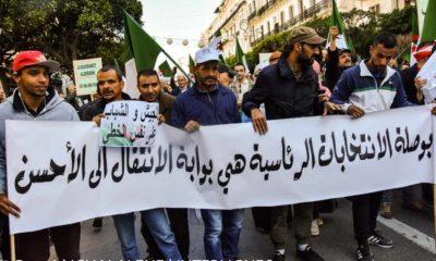 © INTERLIGNES | Marche de soutien à la présidentielle du 12 décembre à Alger
