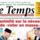 © Une du Temps d'Algérie