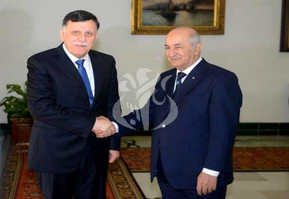 © APS | le Président de la République, Abdelmadjid Tebboune, au Président du Conseil présidentiel du Gouvernement d'union nationale (GNA) libyen, M. Fayez El-Serraj