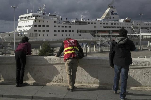 © DR | Le port de Marseille bloqué par les grévistes