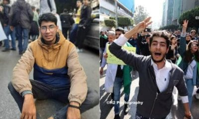 Interpellation des deux étudiants Amine Sediri et Imad Dahmane.