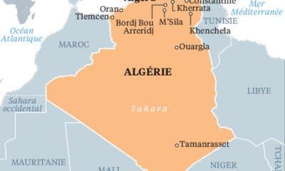 © DR | Carte géographique Algérie