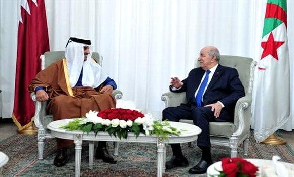 © DR | Abdelmadjid Tebboune avec l'Emir de l'Etat du Qatar,