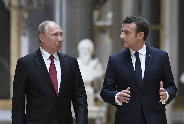 © DR | Le Président Russe Vladimir Poutine avec le Président français Emmanuel Macron
