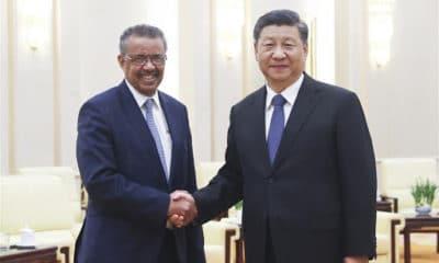 © DR | Le président Chinois et le secrétaire général de l'OMS