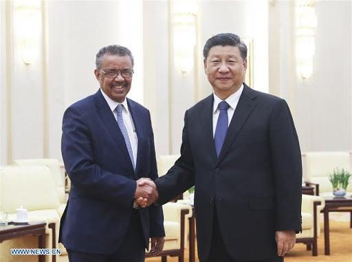 © DR   Le président Chinois et le secrétaire général de l'OMS