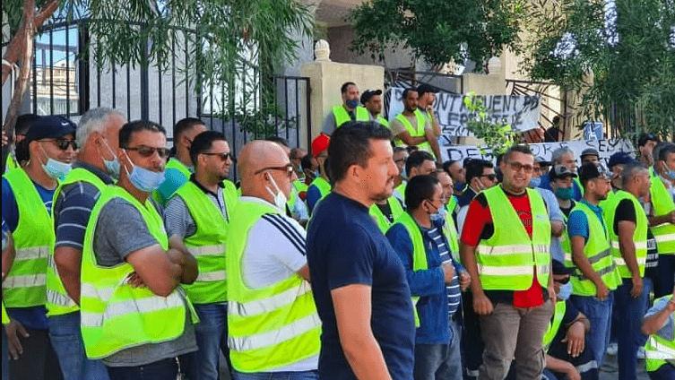 © DR | Salariés grévistes de Numilog, filiale du groupe Cevital