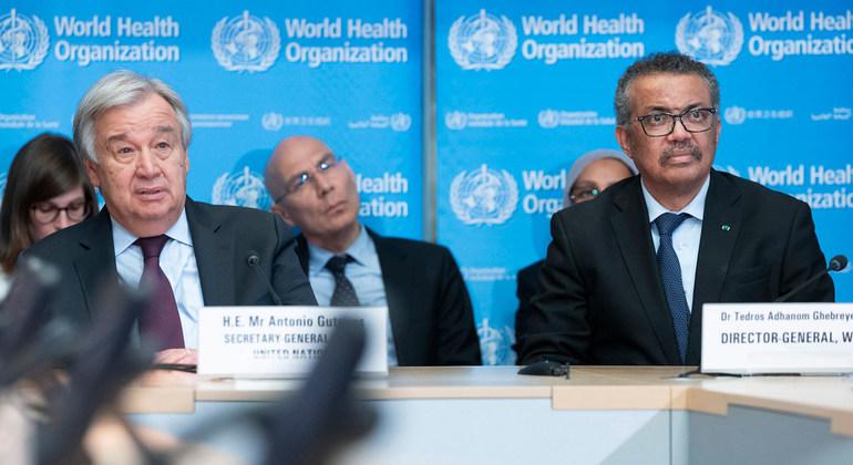 © DR | Le secrétaire général de l'oNU et le secrétaire général de l'OMS
