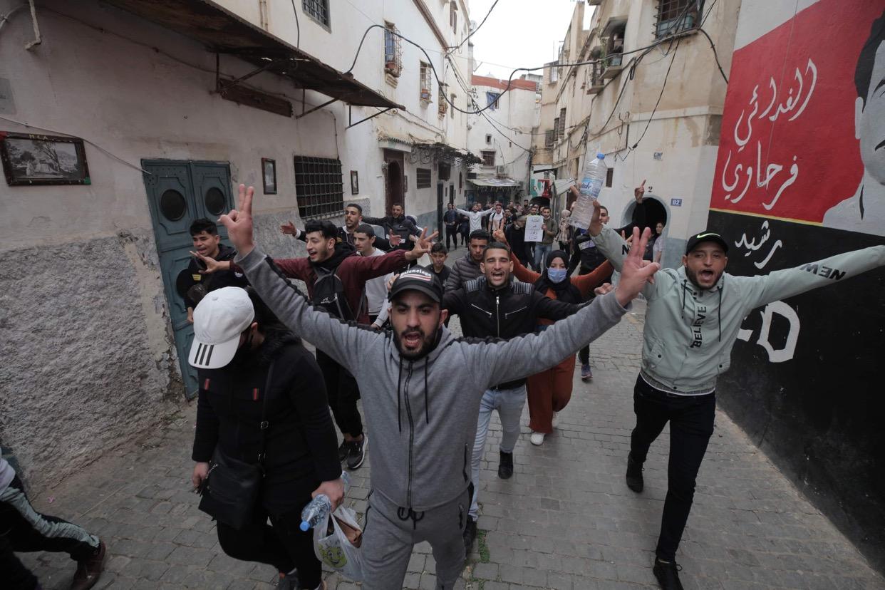 © INTERLIGNES | Marches des étudiants à la Casbah d'Alger