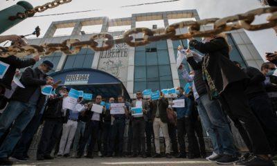 © DR | Sit-in en solidarité au journaliste incarcéré Rabah Kareche