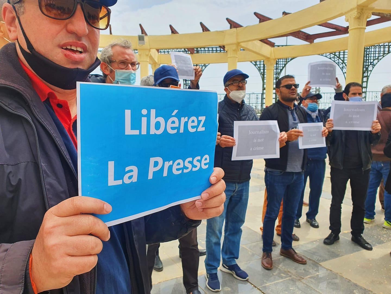 © Meriem Nait Lounis | rassemblement des journalistes à la place de la liberté de la presse à Alger