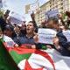 © INTERLIGNES | manifestation des pompiers devant leur direction générale à Hydra, Alger le 2 mai 2021