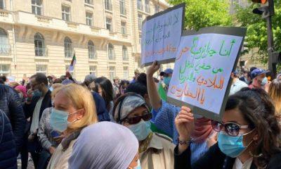 © DR | Des ressortissants algériens protestent en France contre les conditions de réouverture des frontières