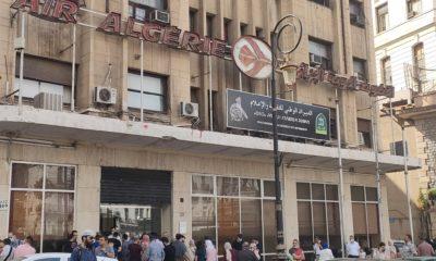 © INTERLIGNES | file d'attente devant le siège d'Air Algérie à Alger centre