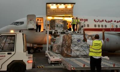 © Présidence Tunisienne   Arrivée d'une aide algérienne contre la covid-19 à l'aéroport international de Carthage, 25 août 2021