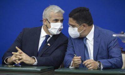 © DR | Le chef de la diplomatie israélienne, Yair Lapid avec son homologue marocain, Nacer Bourita